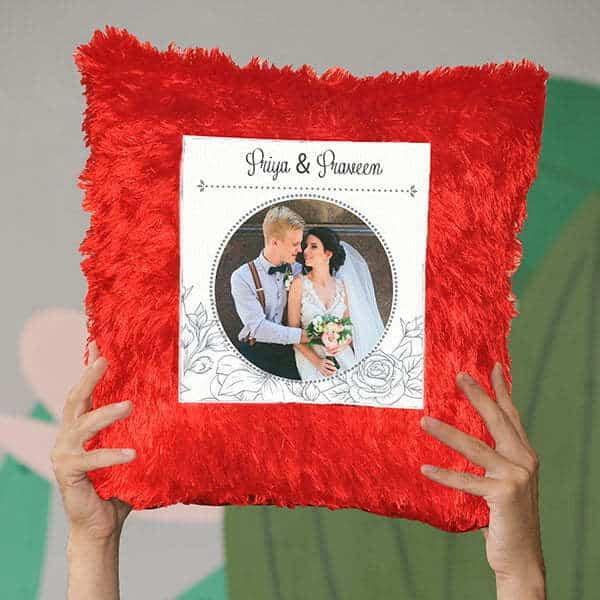 fur pillow square