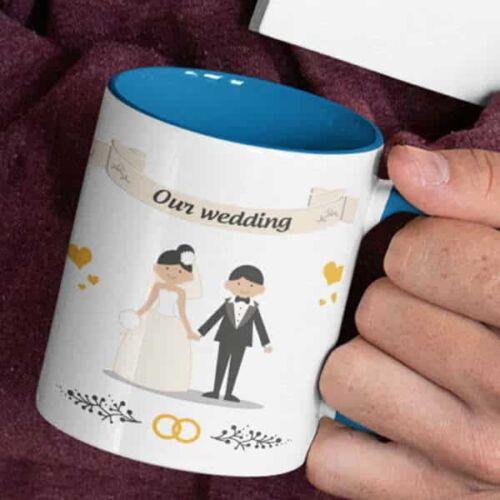 wedding 1 1 Wedding - Coffee Mug With Print - Our Wedding Coffee mug with Print
