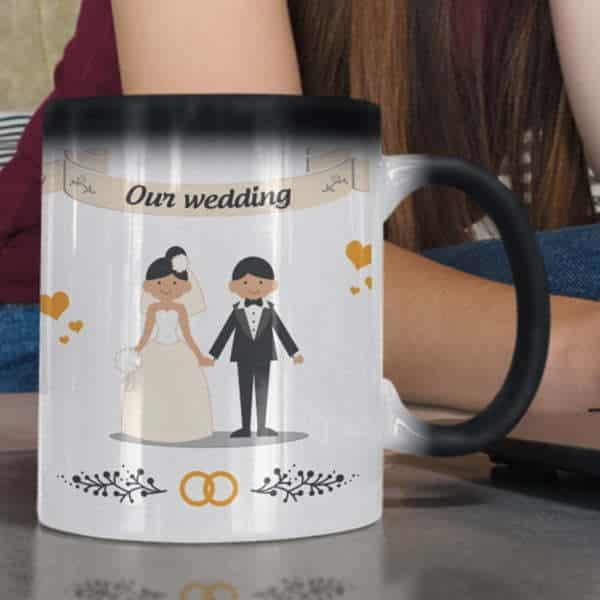 Wedding 1 3 coffee mug with print,mug with print,photo mug