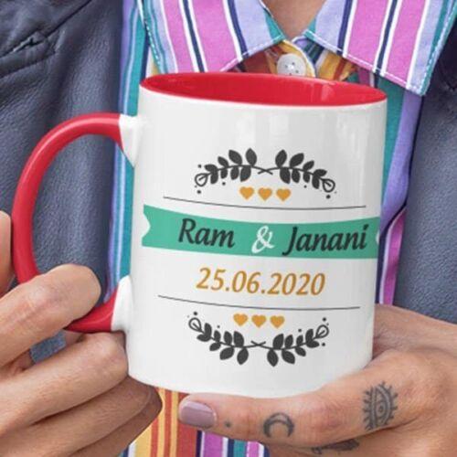 Wedding 1 5 coffee mug with print,mug with print,photo mug