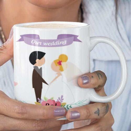 wedding 2 2 Wedding - Coffee Mug With Print - Our Wedding - 2 Coffee mug with Print