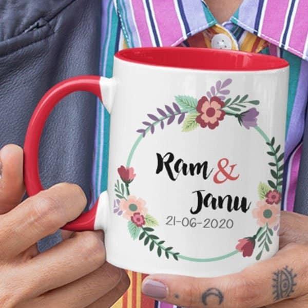 Wedding 2 3 coffee mug with print,mug with print,photo mug