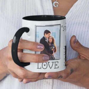 Black 7 coffee mug with print,mug with print,photo mug