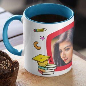 Graduation 1 2 coffee mug with print,mug with print,photo mug