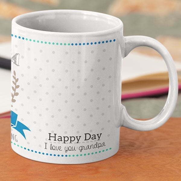 Grand parent 1 5 Coffee mug with print - Mug for grandfather - Magic mug Coffee mug with Print