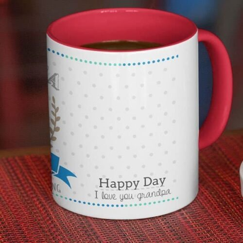 Grand parent 1 6 Coffee mug with print - Mug for grandfather - White mug Coffee mug with Print