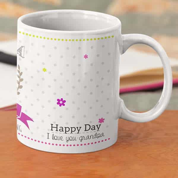 Grand parent 2 4 Coffee mug with print - Mug for grandmother - Magic mug Coffee mug with Print
