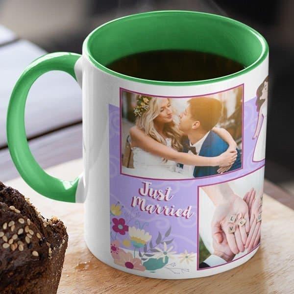 Green 9 Coffee mug with print - mug for newly married couple - Magic mug Coffee mug with Print