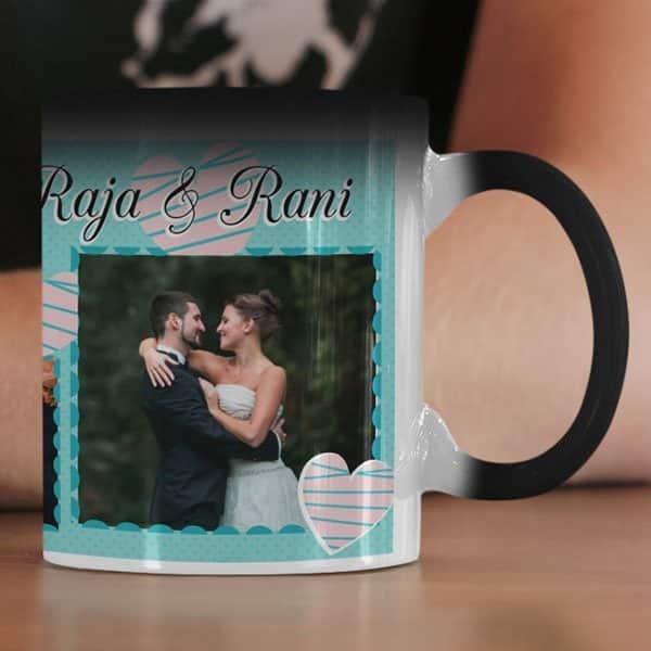 Magic 3 Coffee mug with print - Mug for Wedding - Black mug Coffee mug with Print