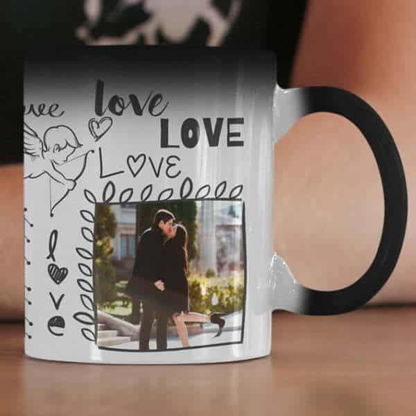Magic 7 Coffee mug with print - I will love - Black mug Coffee mug with Print