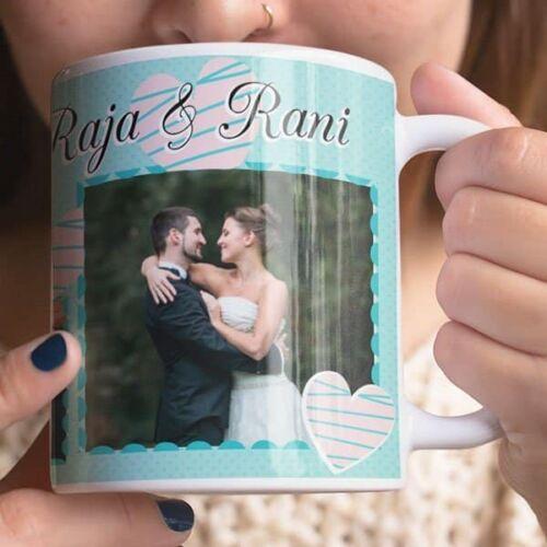 White 3 Coffee mug with print - Mug for wedding - White mug Coffee mug with Print