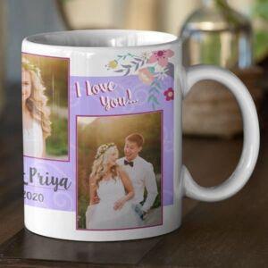 White 9 coffee mug with print,mug with print,photo mug