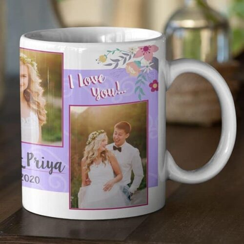 White 9 Coffee mug with print - mug for newly married couple - Magic mug Coffee mug with Print