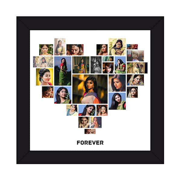hspcf 2 6 Forever - Heart Shaped Photo Collage Frame with 29 Photos
