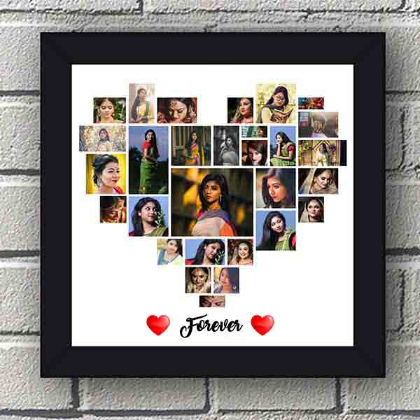 hspcf 2 9 6 Forever - Heart Shaped Photo Collage Frame with 29 Photos