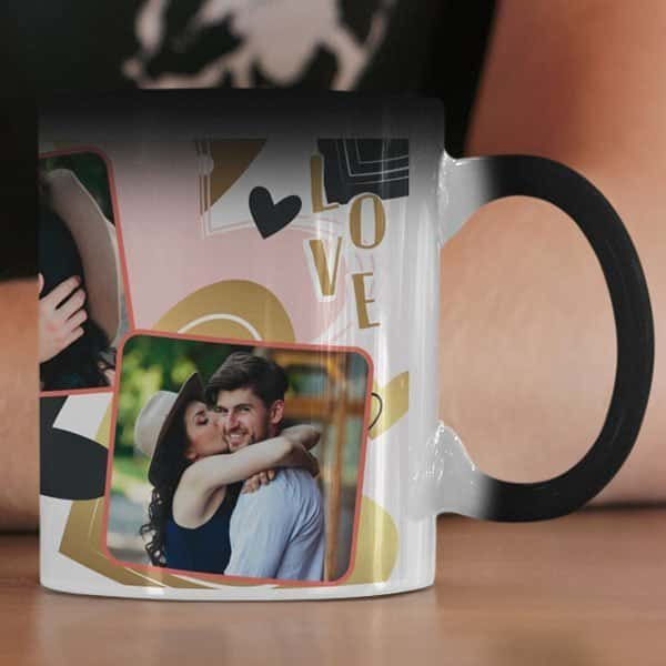 magic Coffee mug with print - Be my Valentine - White mug Coffee mug with Print