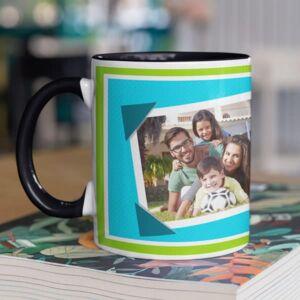 Happy father day 1 black coffee mug with print,mug with print,photo mug