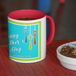 Happy father day 1 red coffee mug with print,mug with print,photo mug