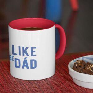I like to be dad red coffee mug coffee mug with print,mug with print,photo mug