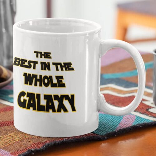 parent 11 1 The best in the whole universe - Blue mug Coffee mug with Print