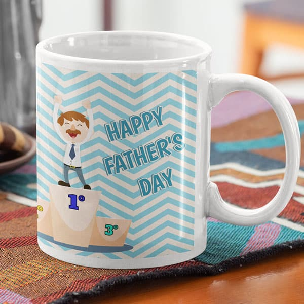 parent 13 5 Happy Father's day - You are #1 dad - Blue mug Coffee mug with Print