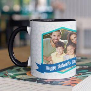 You deserve a monument black coffee mug with print,mug with print,photo mug