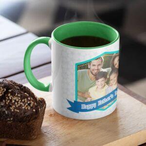 You deserve a monument green coffee mug with print,mug with print,photo mug