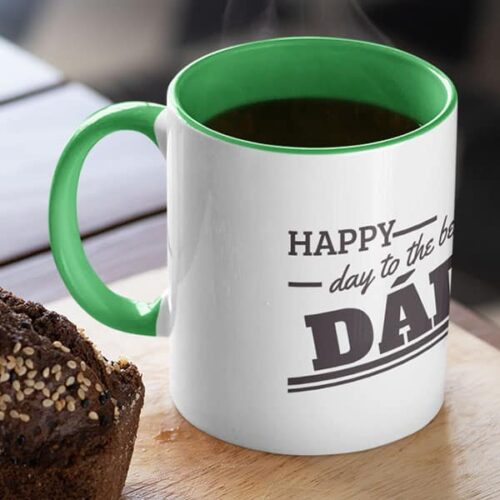 parent 18 4 Happy day to the best dad - Red mug Coffee mug with Print